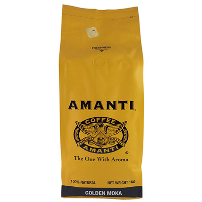 Amanti Golden Moka coffee beans