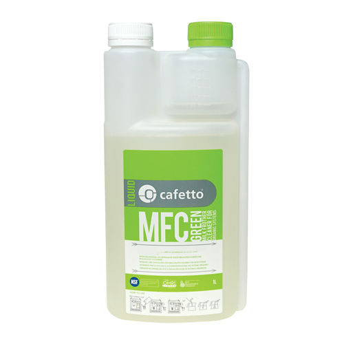 Cafetto Organic GREEN Milk Frother Cleaner 1 Litre