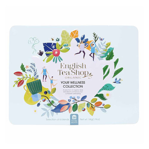 English Tea Shop Organic Premium Your Wellness Blue Gift Tin